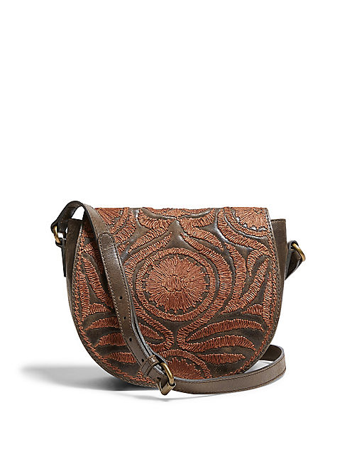 FLORAL EMBROIDERED BAG,