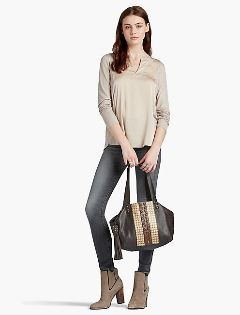 LUCKY EMBOSSED TOTE