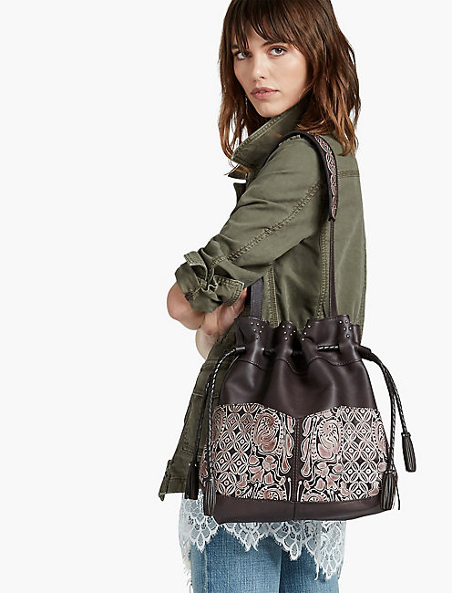 LUCKY YASMINE EMBOSSED TOTE