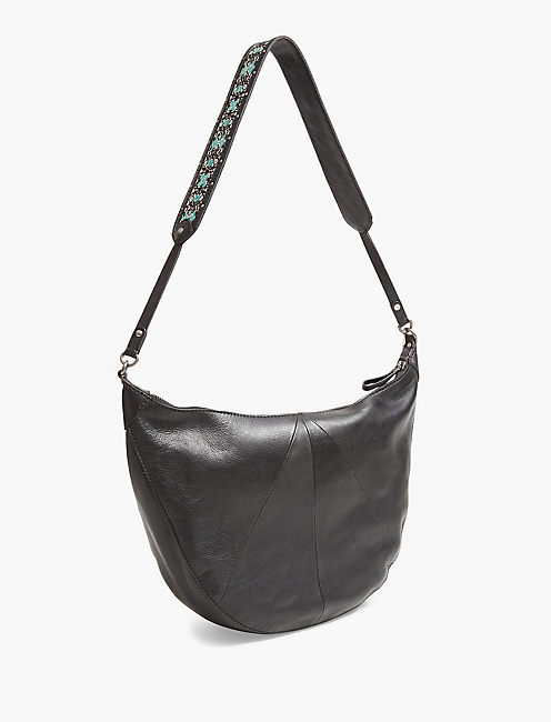 EMBROIDERED STRAP HOBO,