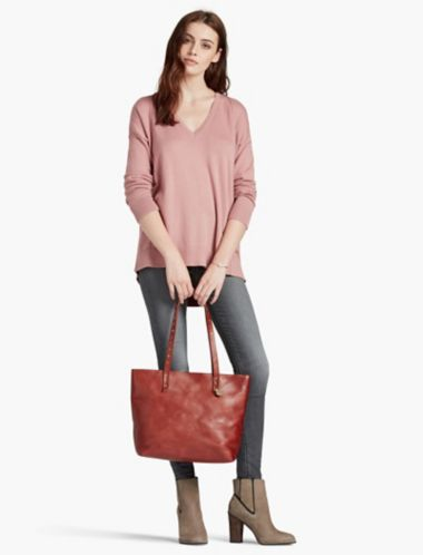 LUCKY POINT TOP ZIP TOTE