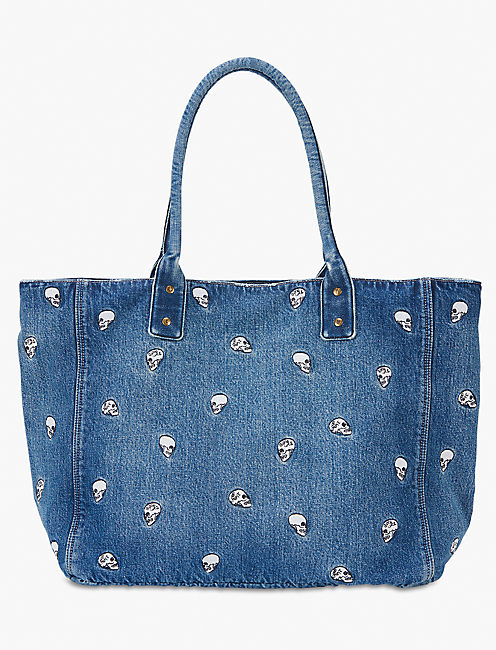 Lot, Stock And Barrel SKULL EMBROIDERED TOTE,