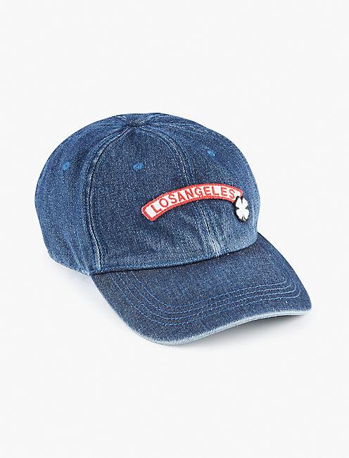 DENIM PATCH BASEBALL HAT,