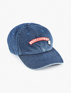 DENIM PATCH BASEBALL HAT