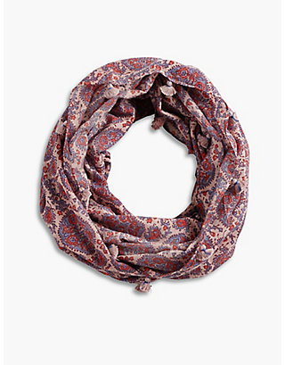 LUCKY CORAL LOOP SCARF