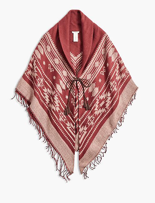 Lucky Rust Fringe Hooded Kimono