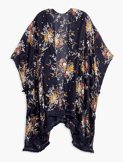 Lucky Floral Printed Kimono