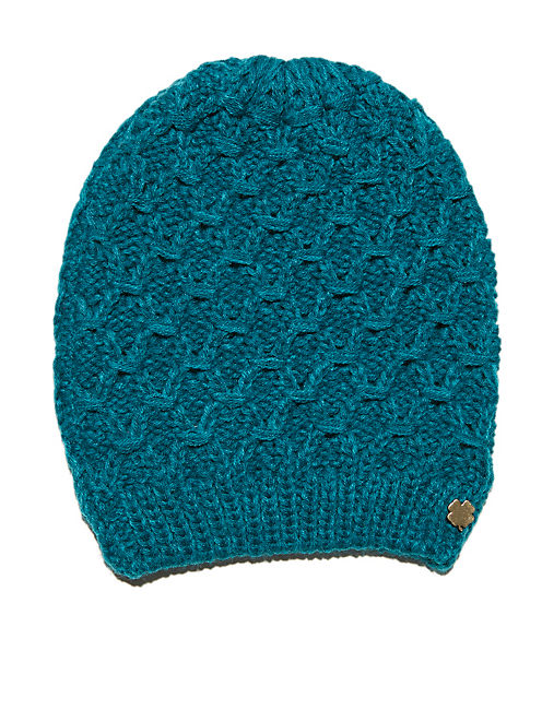 TEAL BEANIE, NATURAL MULTI
