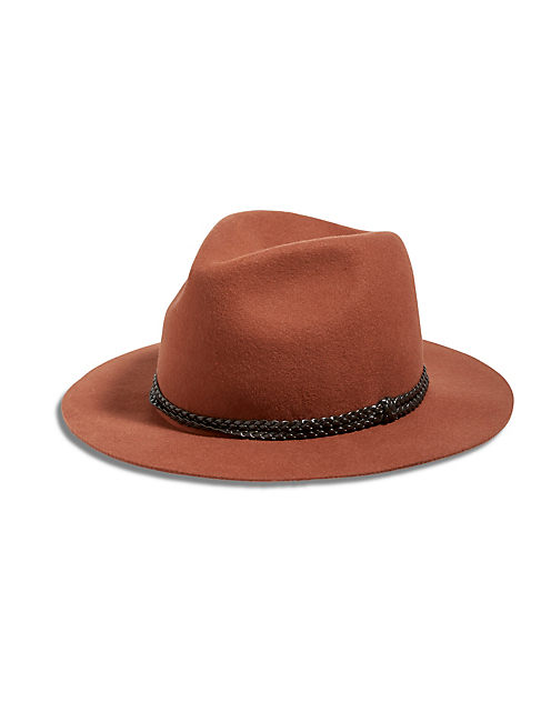 WOOL FELT RANGER, RUST BROWN