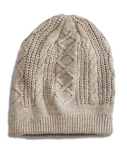 CABLE BEANIE, NATURAL