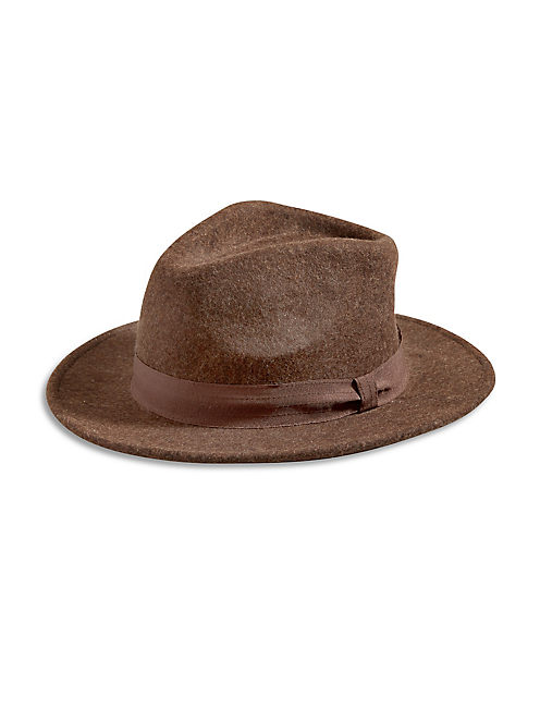 BROWN WOMEN'S HAT, MEDIUM BROWN