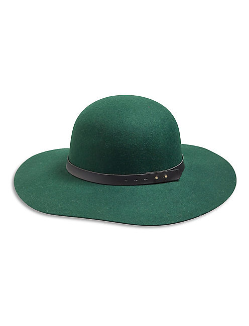 FELT FLOPPY HAT, GREEN