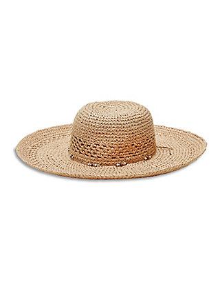 LUCKY OPEN WEAVE FLOPPY HAT