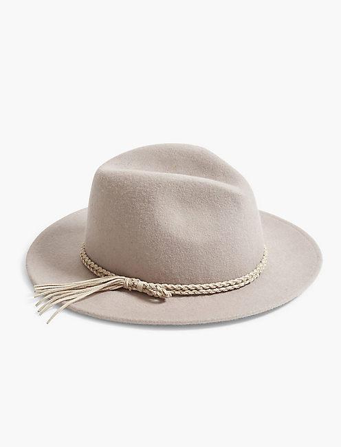 TASSEL TRIM PANAMA HAT,