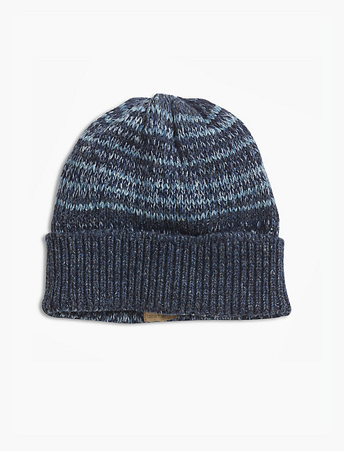MARLED STRIPE BEANIE, OPEN BLUE/TURQUOISE