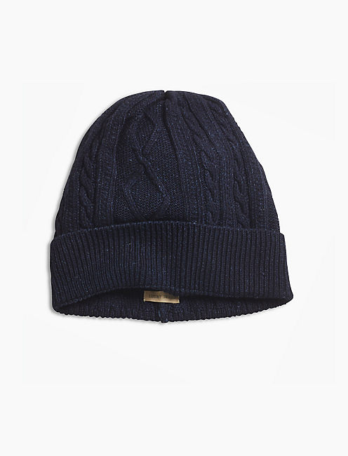 CABLE TURNUP BEANIE,