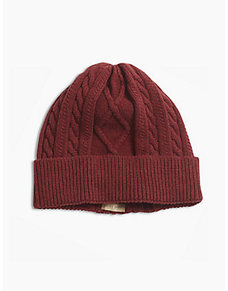 LUCKY CABLE TURNUP BEANIE