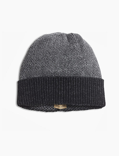 COLORBLOCK BEANIE, CHARCOAL