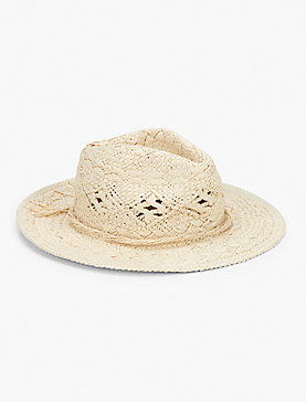 BEAD TRIM PANAMA HAT