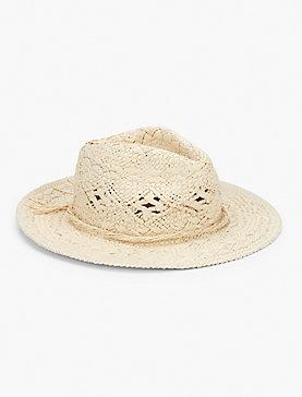 BEAD TRIM PANAMA HAT