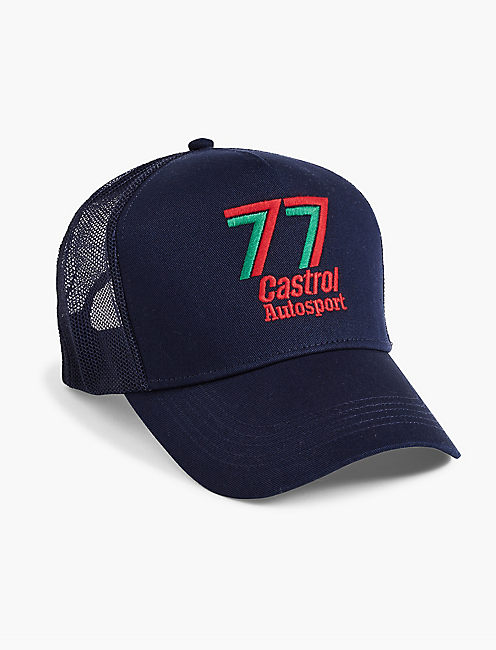 CASTROL TRUCKER HAT, NAVY