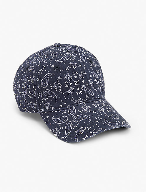 BANDANA PATCHWORK HAT, NAVY