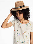 DIAMOND TRIM STRAW HAT,