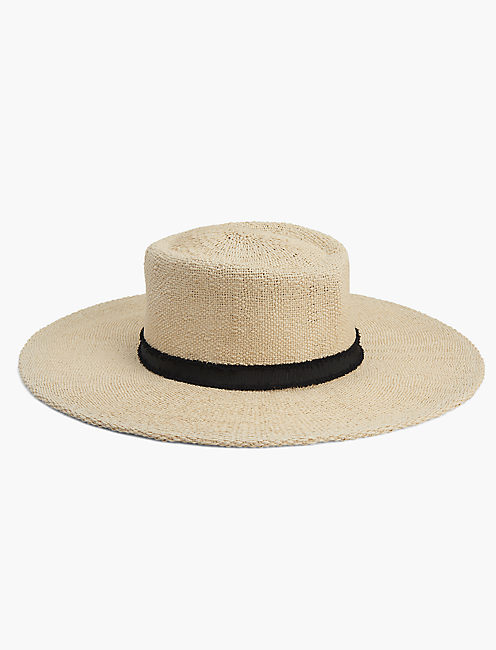 STRAW BOLERO HAT, NATURAL