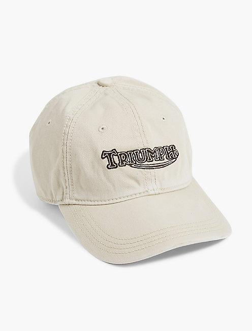 TRIUMPH BASEBALL HAT, STONE