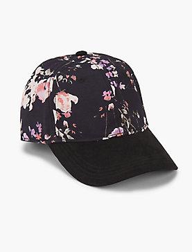 FLORAL PRINT BASEBALL HAT