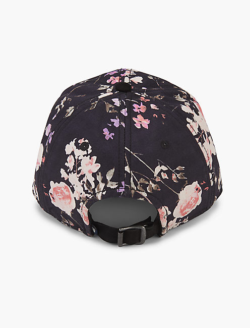 Lucky Floral Print Baseball Hat