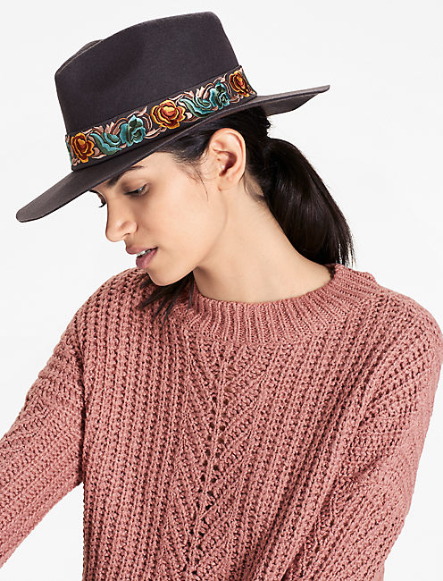 Lucky Layered Satin Wool Hat