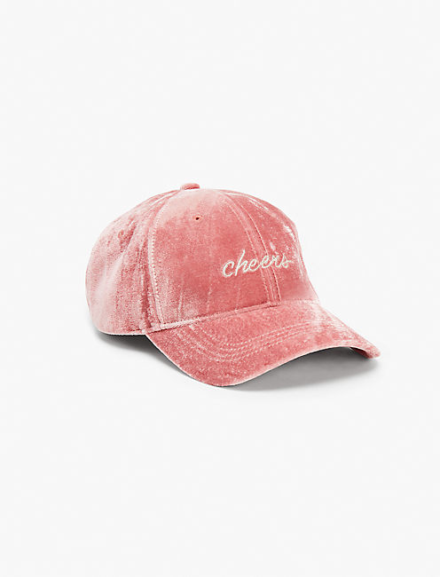 VELVET CHEERS BASEBALL HAT,
