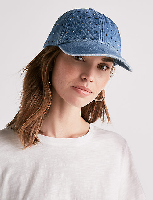 Lucky Studded Denim Baseball Hat