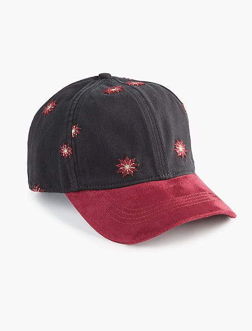 EMBROIDERED BASEBALL HAT, MULTI