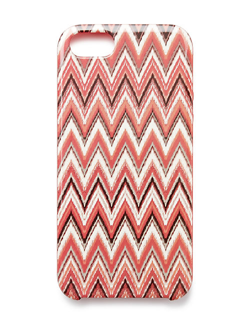 W Chevron Printed Hardcas, RED MULTI