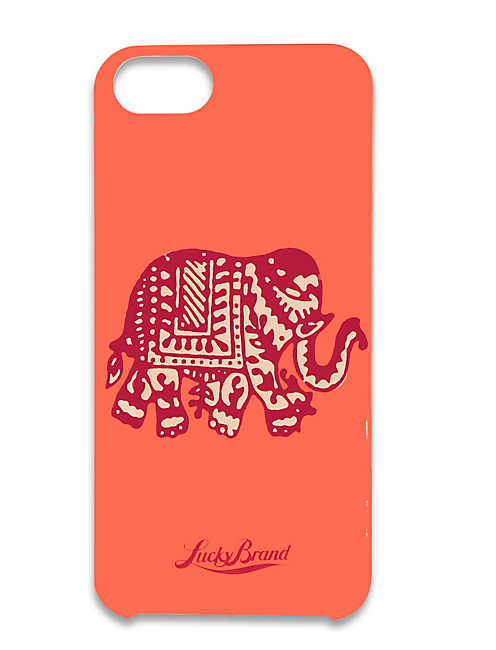 ELEPHANT IPHONE 5, MEDIUM DARK RED