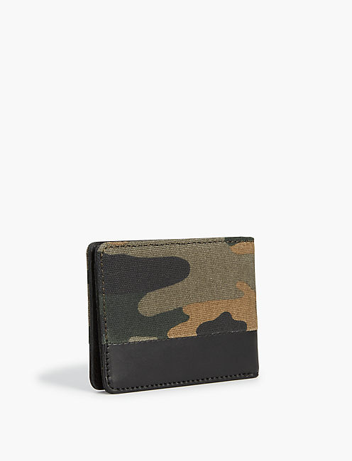 CANVAS LEATHER WALLET,