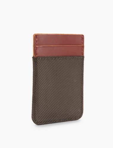 Lucky Nylon Leather Card Case