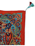PAISLEY PRINT SQURE SCARF, BRIGHT RED