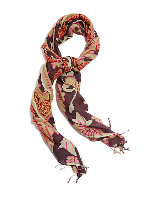 KAREENA EMBROIDERED SCARF, MULTI