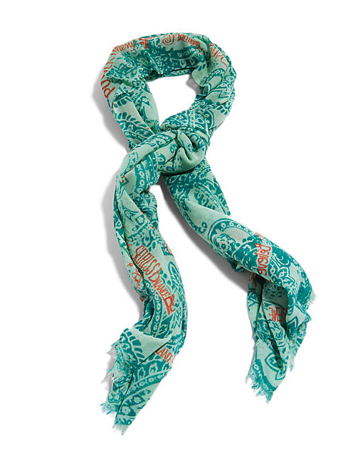 KARMA SCARF, LIGHT GREEN