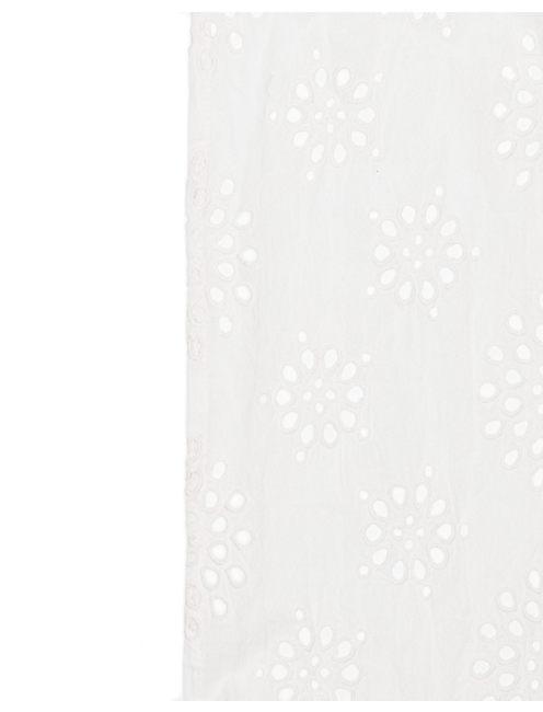 EYELET INFINITY SCARF, WHITE