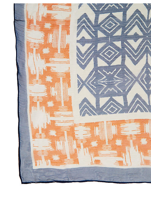 MIXED TRIBAL GEOS, BLUE
