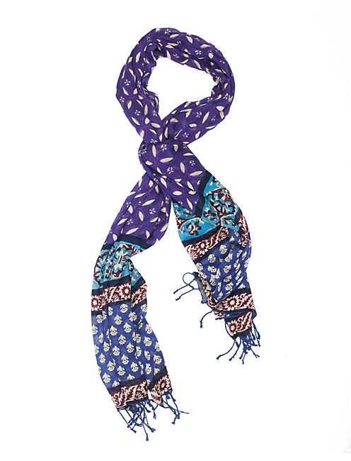 INDIAN MOSAIC SCARF, BRIGHT PURPLE