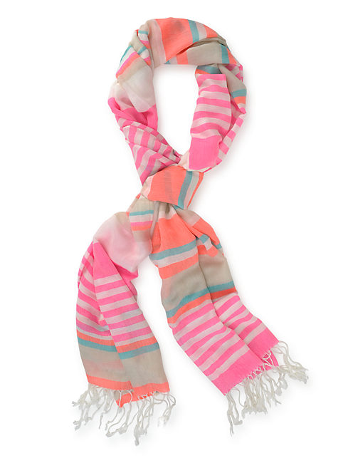 NEON STRIPES, CORAL PINK