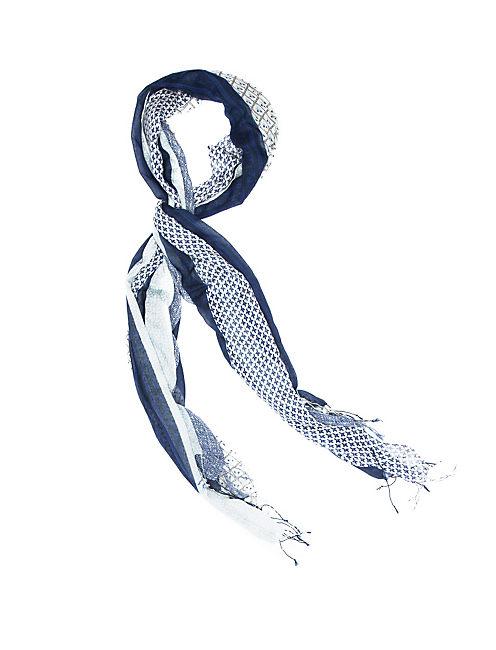 PAISLEY STRIPES, MEDIUM BLUE