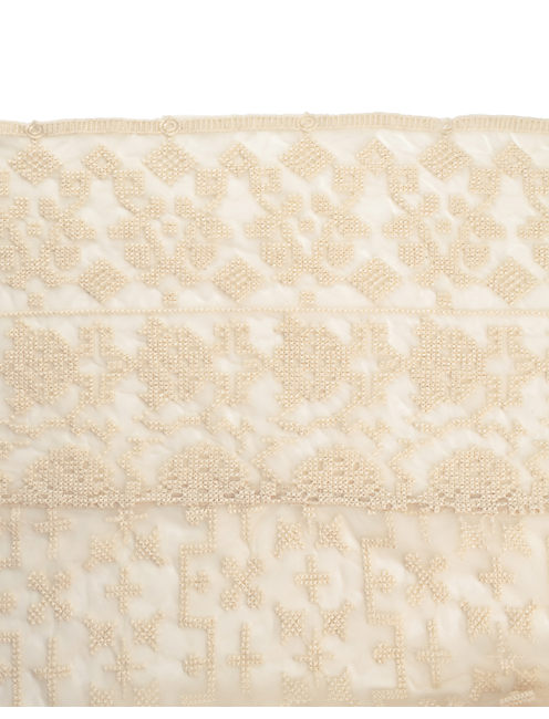 CRISS CROSS EMBROIDERED, NATURAL