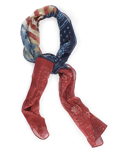 AMERICANA PATCHWORK, BRIGHT RED