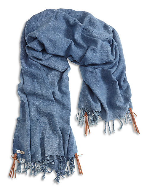 DENIM PONCHO, #458 BLUE